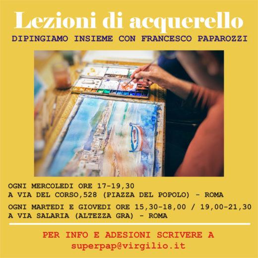 Lezioni di acquerello con Francesco Paparozzi