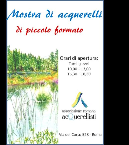 Inaugurazione della Mostra di Acquerelli  di Piccolo Formato