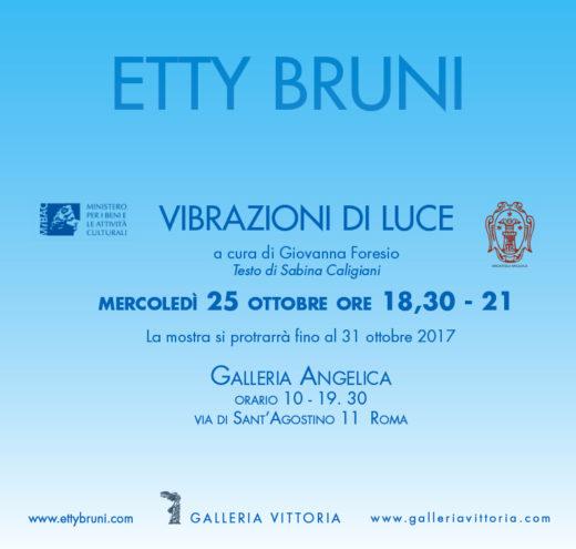 Mostra personale di Etty Bruni alla Galleria Angelica