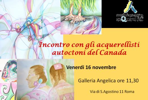 Incontro con gli acquerellisti canadesi il 16.11 all'Angelica
