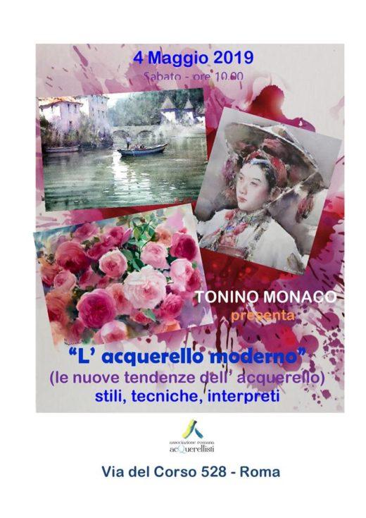 Conversazione sull'Acquerello moderno di Tonino Monaco